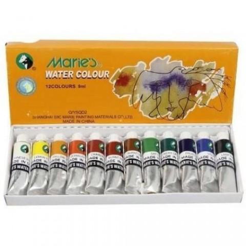 Maries Sulu Boya Water Color 9 ml 12'li