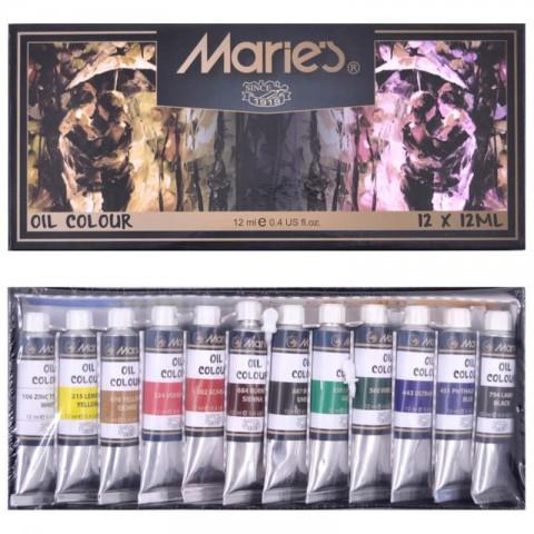 Maries Yağlı Boya (E1381B) 12 Renk