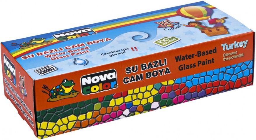 Nova Color Cam Boyası Su Bazlı 10 Renk Şişe
