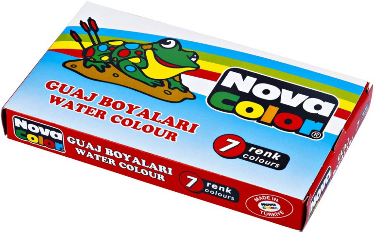 Nova Color Tüp Guaj Boya 7 Renk
