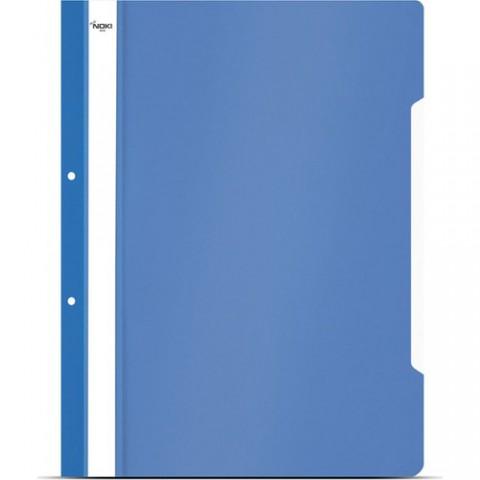 Noki A4 Plastik Telli Dosya Mavi 50 Li 2 Paket 100 Adet