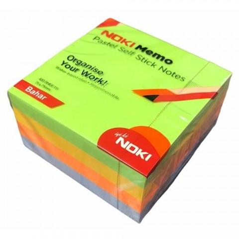 Noki Memo 75X75 Yapışkanlı Pastel Küp Blok Not 400 Sf Bahar