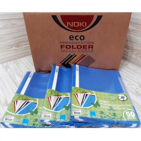 Noki Telli Dosya Mavi 50 Li 16 Paket (1 Koli)