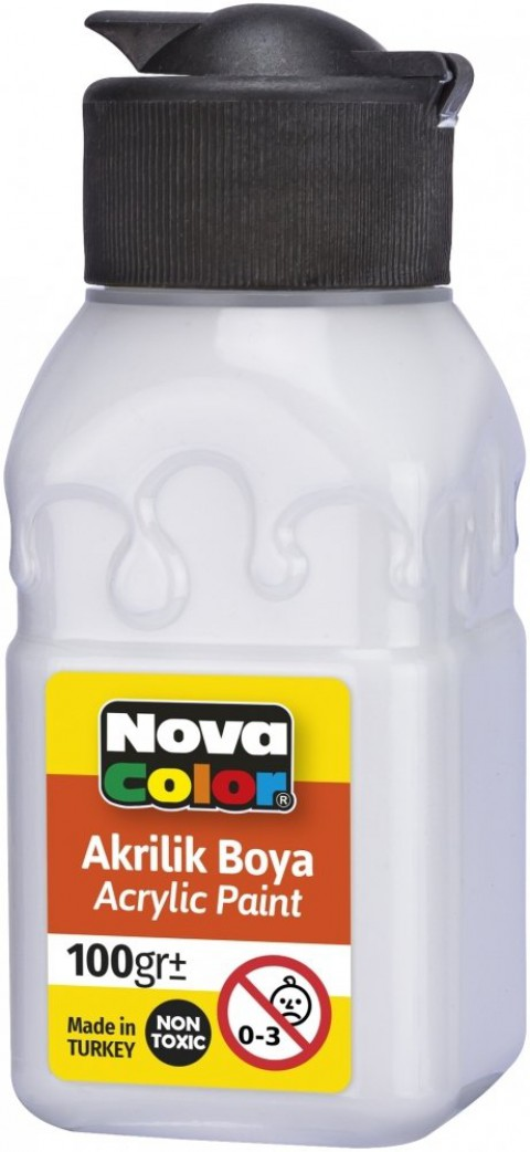 Nova Color Akrilik Boya Şişe 100 Gr Beyaz
