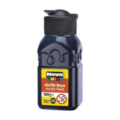 Nova Color Akrilik Boya Şişe 100 Gr Siyah