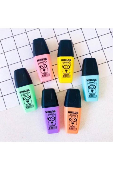 Osaka Mini Fosforlu Pastel Karışık 6 Renk Set