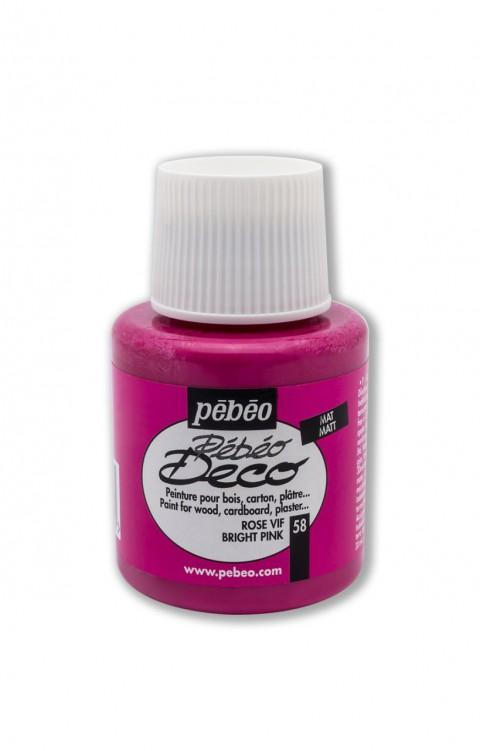 Pebeo Deco 110 Ml Ahşap Boyası 58 Bright Pink
