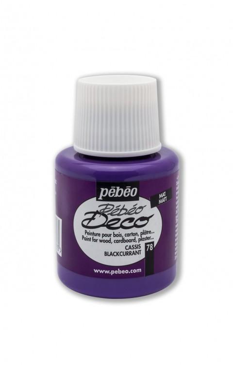 Pebeo Deco 110 Ml Ahşap Boyası 78 Blackcurrant