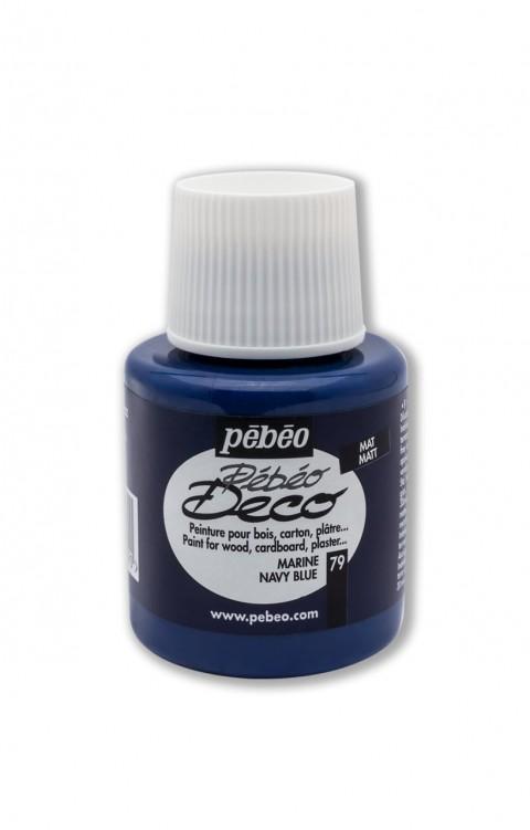 Pebeo Deco 110 Ml Ahşap Boyası 79 Navy Blue