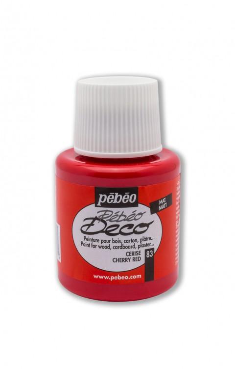 Pebeo Deco 110 Ml Ahşap Boyası 83 Cherry Red