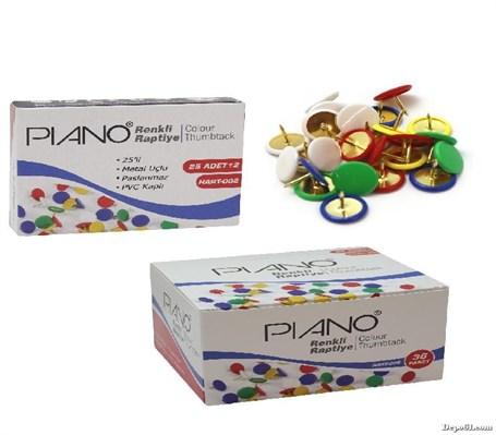 Piano Renkli Raptiye 1 Paket 25 Adet