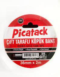 Picador Picatack 36 mm x 2 m Çift Taraflı Köpük Bant