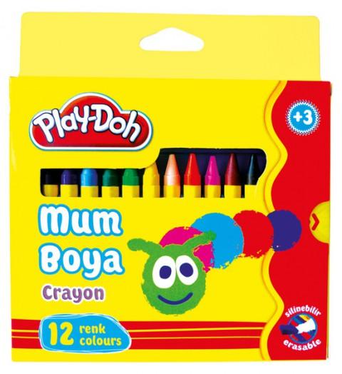 Play-Doh 12 Renk Crayon Pastel Boya Karton Kutu 8mm