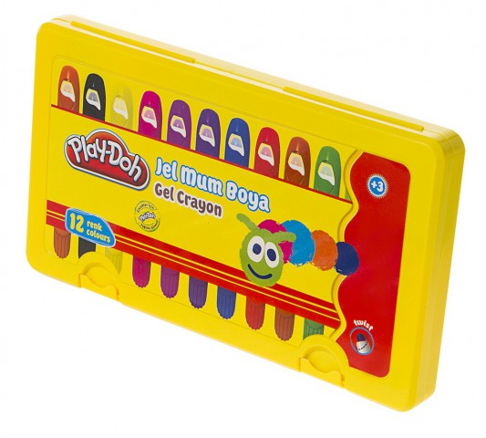 Play-Doh 12 Renk Jel Mum Boya - Gel Crayon