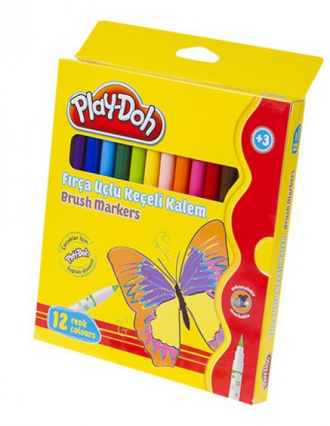 Play-Doh 12 Renk Keçeli Kalem Karton Kutu 5mm