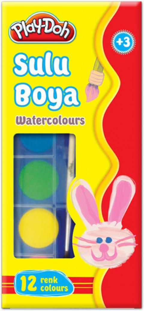 Play Doh 12 Renk Sulu Boya Küçük 23 mm Su002