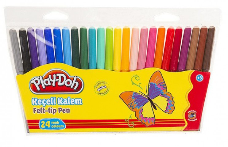Play-Doh Keçeli Kalem 24 Renk 2mm