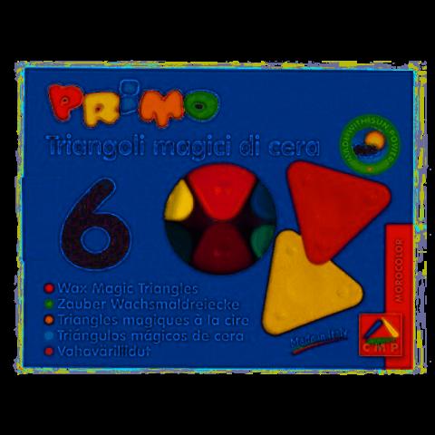 Primo Sihirli Üçgen Mum Boya 6 Renk