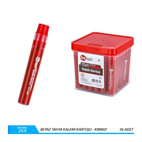 R.Apple Beyaz Tahta Kalemi Kartuşu Mürekkebi Kırmızı 1Kutu 36Adet