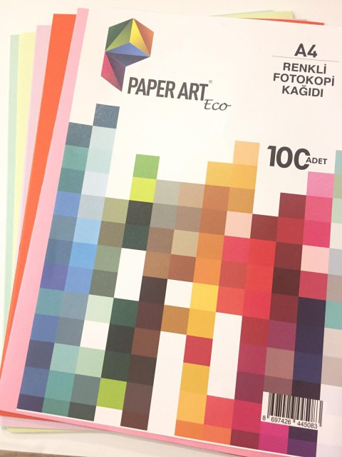 Renkli A4 Kağıdı 100 lü Canlı Renkler 10 RENK