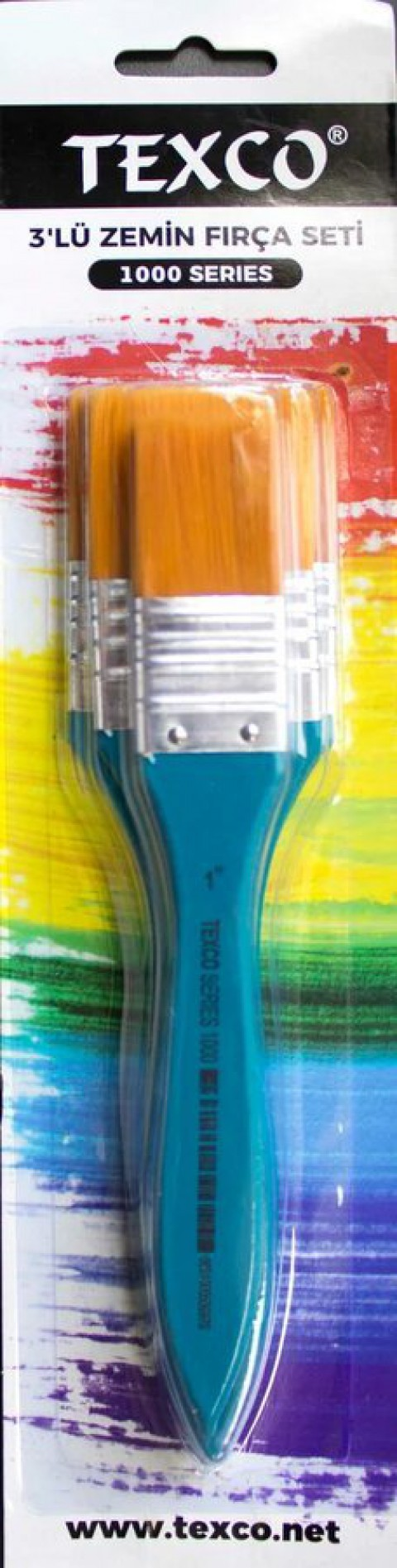 Rich Texco 3'lü Zemin Set Fırça Turkuaz 1500 Seri