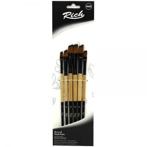 Rich Yan Kesik Fırça Seti 6'lı
