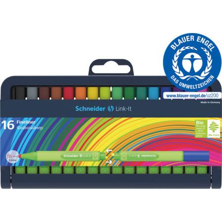 Schneider Fiber Uçlu Kalem Lınk-It 0.4 MM Fineliner 16 LI