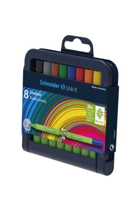 Schneider Link-ıt Bio-plastik Fineliner 0.4 Mm. 8 Renk Yarım Boy