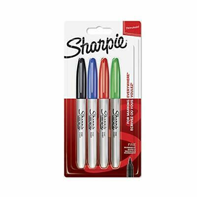 Sharpie Fine Permanent Markör Standart Renkler 4'lü Blister