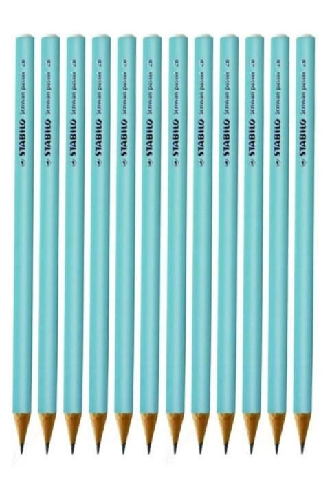 Stabilo Schwan Pastel Mavi Yuvarlak Kurşun Kalem 12 Ade