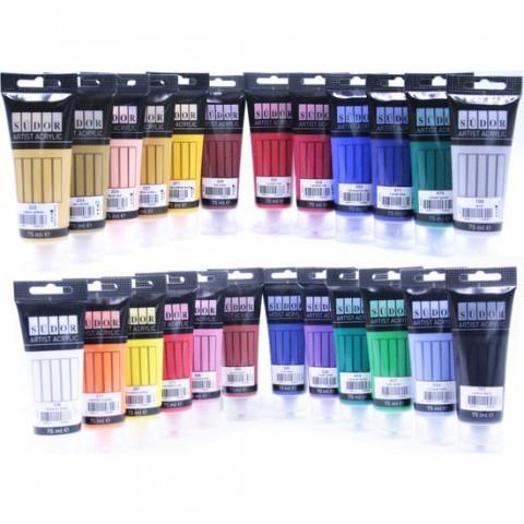 Südor Akrilik Boya 75 Ml Tüp Renk Seçenekleri