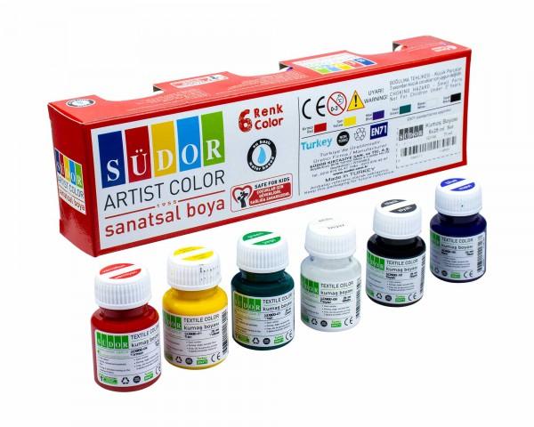 Südor Kumaş Boyası 6 Renk x 25 ml.