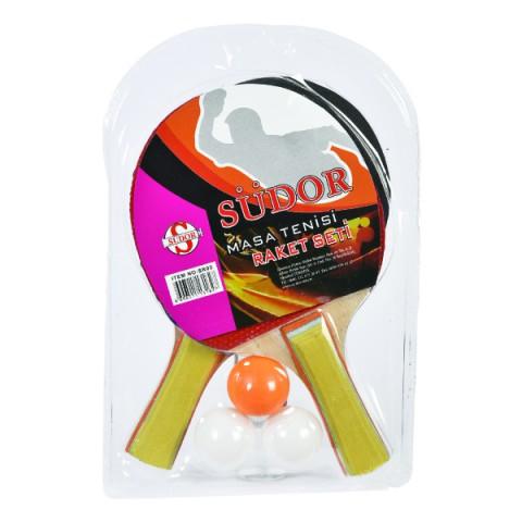 Südor Masa Tenisi Raket Seti - 2 Raket 3 Top