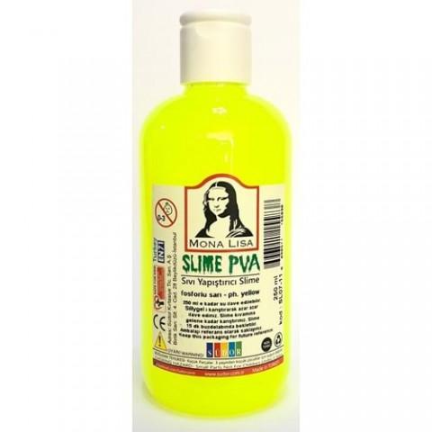 Südor Mona Lisa Slime Sıvı Yapıştırıcı Fosforlu Sarı 250ml