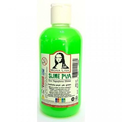 Südor Mona Lisa Slime Sıvı Yapıştırıcı Fosforlu Yeşil 250ml