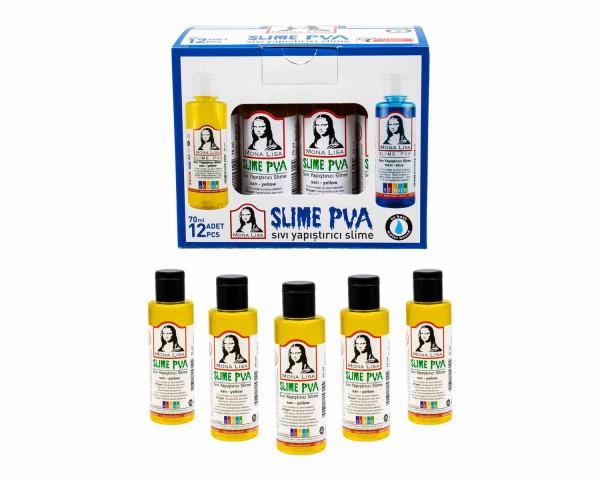Südor Sıvı Yapıştırıcı 70 ml Slime Mona Lisa Sarı 12 ADET