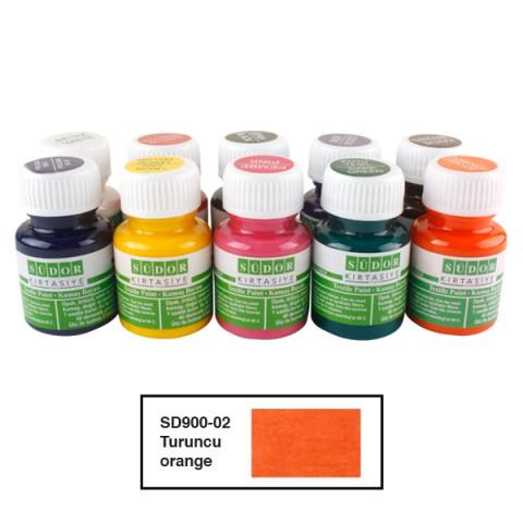Südor Textıle Color ( Kumaş Boyası ) 25 ML  10LU TURUNCU