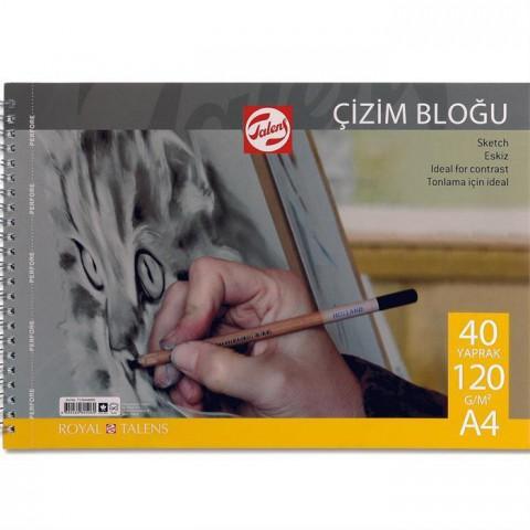 Talens Çizim Bloğu 120gr A4 40yp Spiralli
