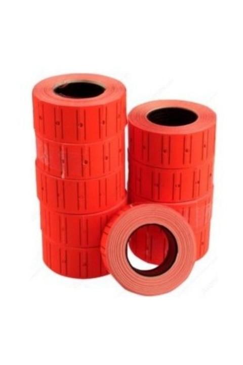 Tanex 12x21 Kırmızı Çizgili Fiyat Etiketi 6lı