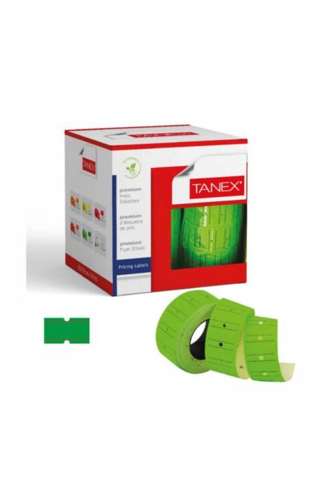 Tanex 12x21 Yeşil Çizgili Fiyat Etiketi 6lı