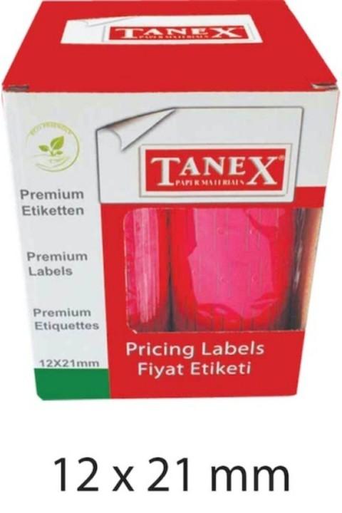 Tanex 12x21 Pembe Çizgili Fiyat Etiketi 6lı