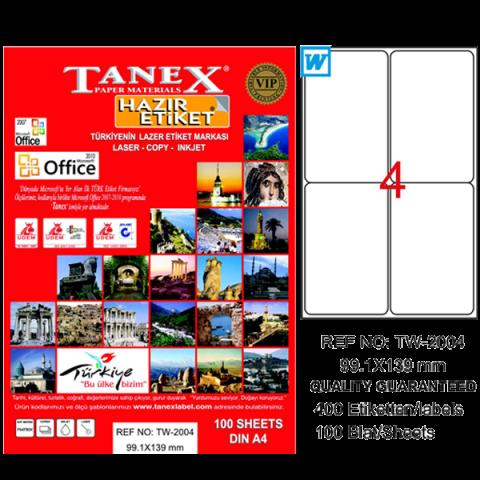 Tanex Lazer Etiket 100 YP 99.1x139 Laser-Copy-Inkjet TW-2004