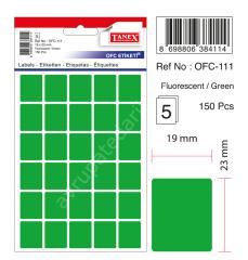 Tanex Ofc-111 Yeşil Ofis Etiketi