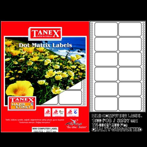 Tanex Sürekli Form Etiket 1500 LÜ 35x77