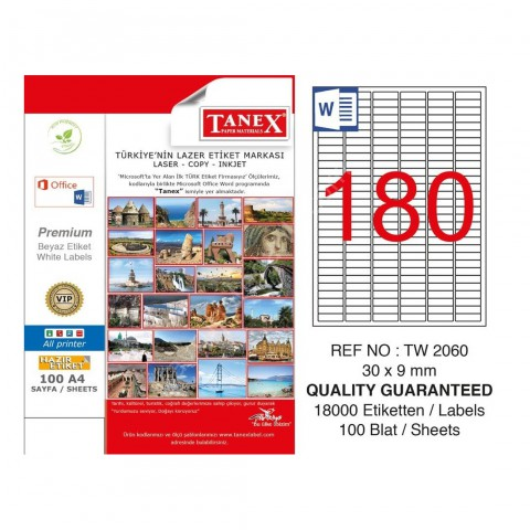 Tanex Tw-2060 Etiket Go (30 X 9 Mm)