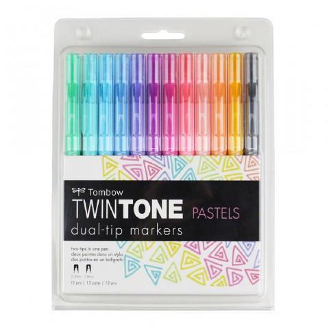 Tombow Twintone 12'li Pastel Tonlar Kalem Seti