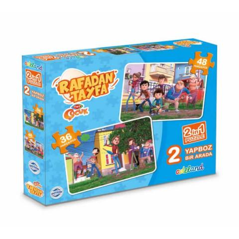 Trt Çocuk Rafadan Tayfa 2in1 Puzzle (36 parça, 48 parça)