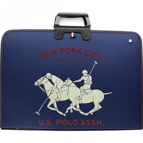 U.S. Polo Assn. Lacivert Çizim Proje Çantası 9010