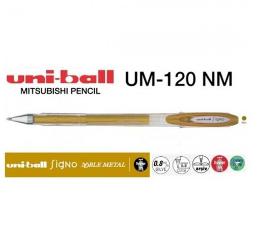 Uniball Signo Noble Metal Jel Kalem Altın 0.8 UM-120NM