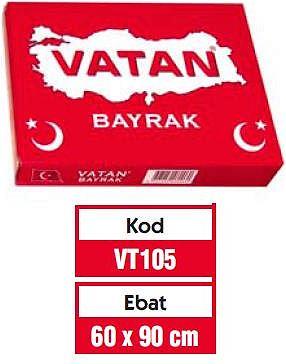 VATAN 60x90 cm TÜRK BAYRAĞI